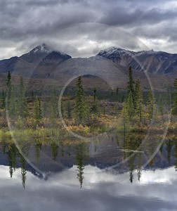 Denali Hwy Cantwell Viewpoint Alaska Panoramic Landscape Photography Snow Art Printing - 020464 - 09-09-2016 - 7735x9209 Pixel