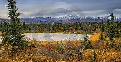 Richardson Hwy Delta Junction Viewpoint Alaska Panoramic Landscape Photography Prints For Sale - 020275 - 11-09-2016 - 15235x7904 Pixel