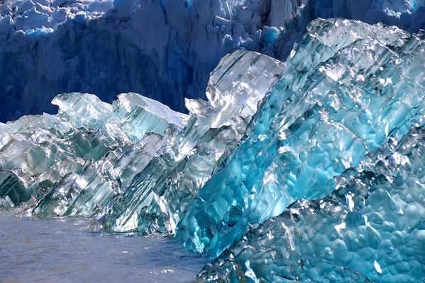 An up close look at glacial ice at Endicott Arm