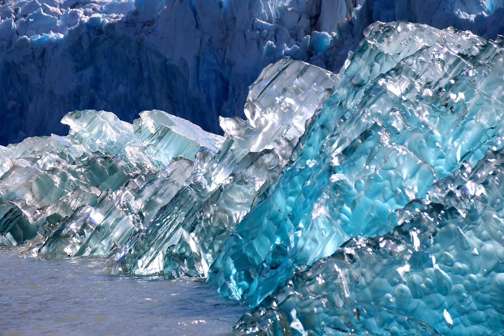 Glacial Ice - Dawes Glacier, Endicott Arm, Alaska - Photo