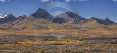 Denali Hwy Paxon Viewpoint Alaska Panoramic Landscape Photography Shore Art Prints - 020200 - 09-09-2016 - 17442x7920 Pixel