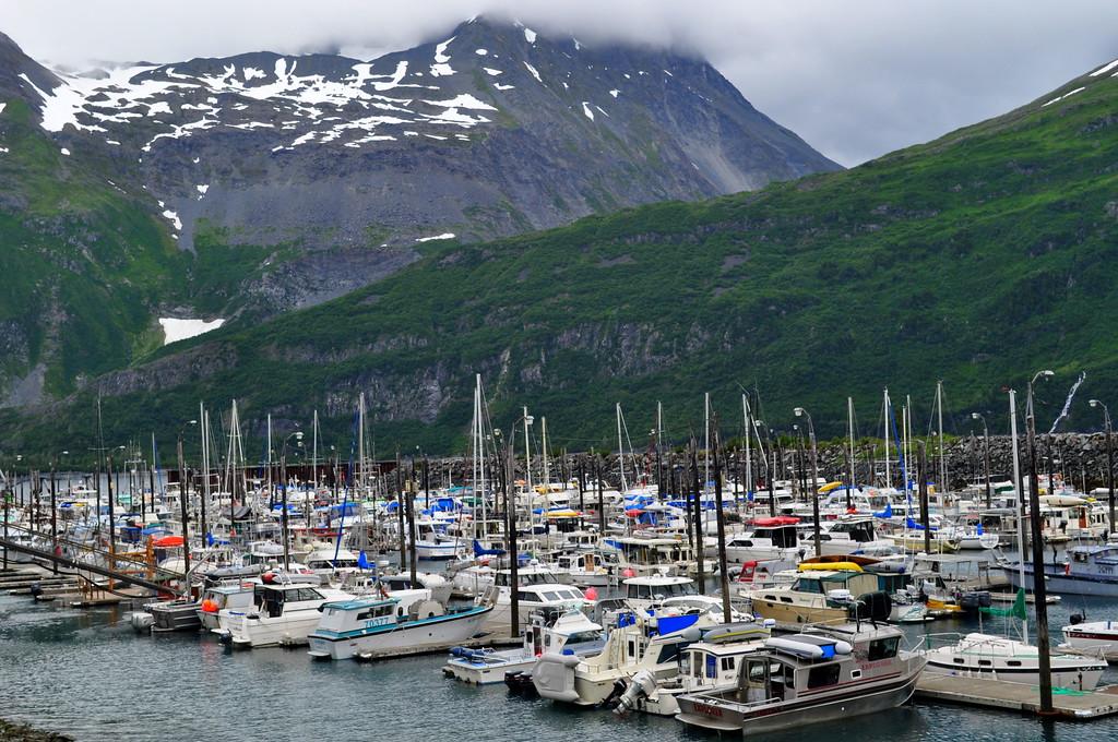 Boats in the Whittier Alaska Marina
