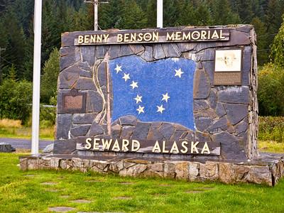 Seward, Benny Benson Memorial. In 1926, a 13 year Alutiiq boy designed the Alaska flag