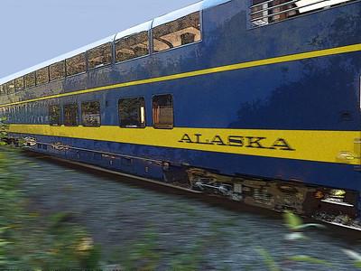 Train from Seward to Fairbanks