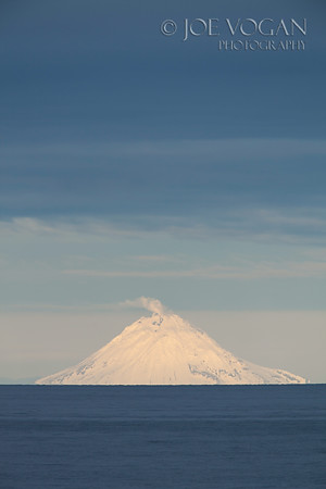 Augustine Volcano, South Central Alaska, as seen from the Kenai Peninsula