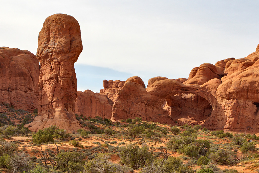 Cove Of Caves, Arches National Park, Near Moab, Utah