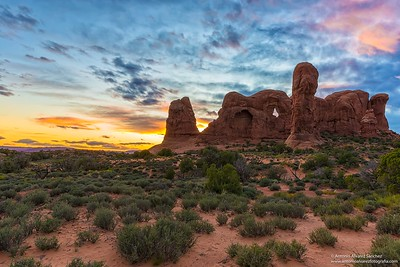 Tarde en Arches national park