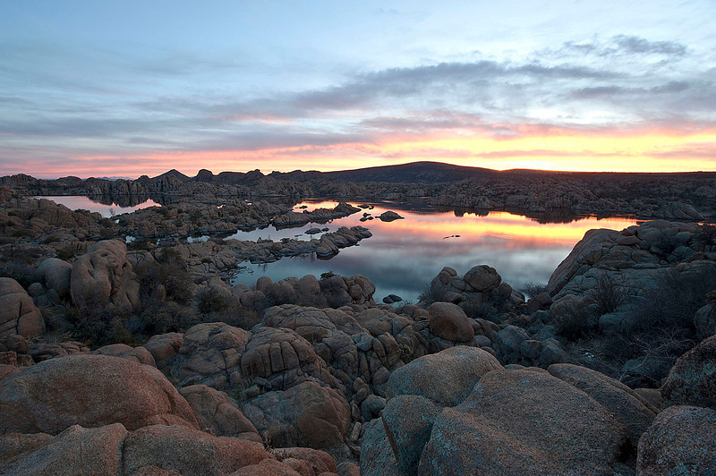Sunrise at Watson Lake, Prescott, Arizona