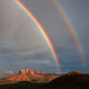 Double Rainbow over Cathedral Rock, Sedona, Arizona