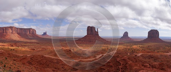 Monument Valley Arizona Mexican Hat Desert Red Rock Rain Fine Art Nature Photography Color - 008180 - 06-10-2010 - 9763x4154 Pixel
