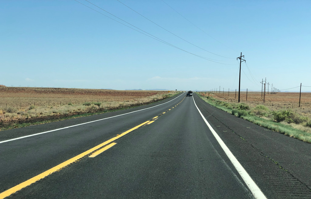 Empty road on an Arizona Highways