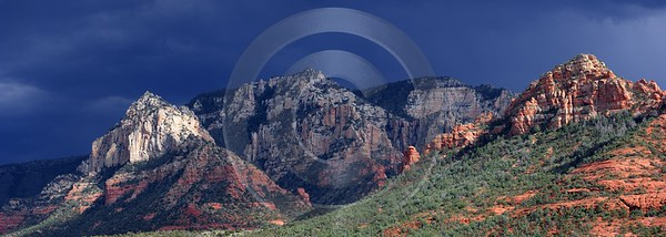 Sedona Town Arizona Usa Desert Red Rock Formation Cloud Western Art Prints For Sale - 011142 - 30-09-2011 - 9349x3329 Pixel