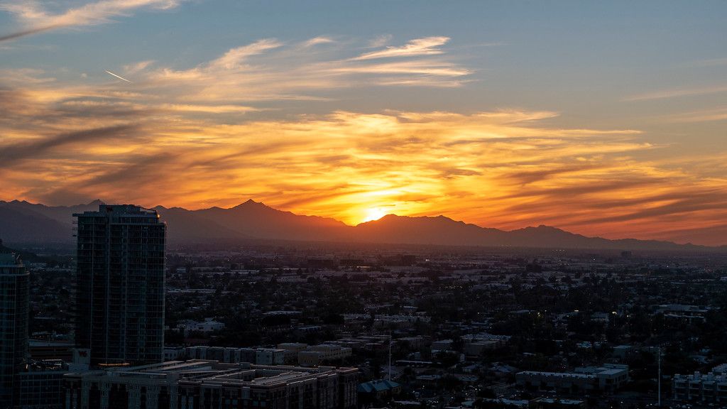 Things to do in Tempe AZ: Watch the sunset from A Mountain