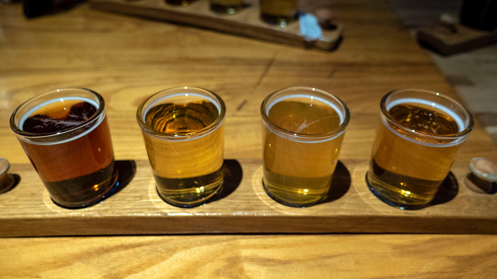 Things to do in Tempe AZ: Beer Flight at Four Peaks Brewing