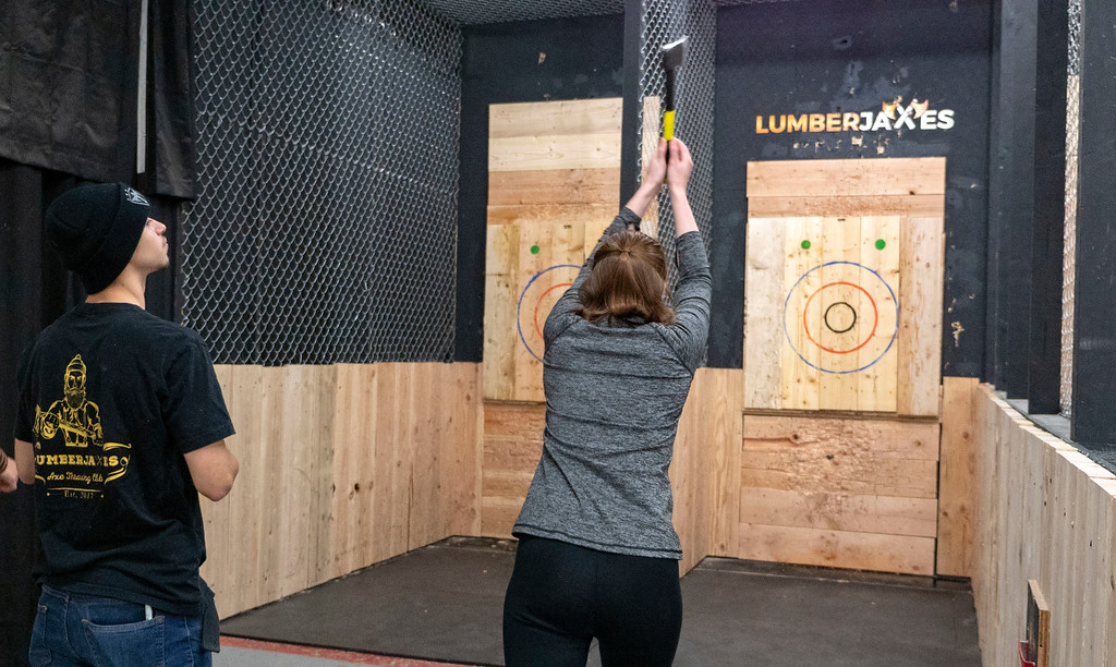 Things to do in Tempe AZ: Axe Throwing