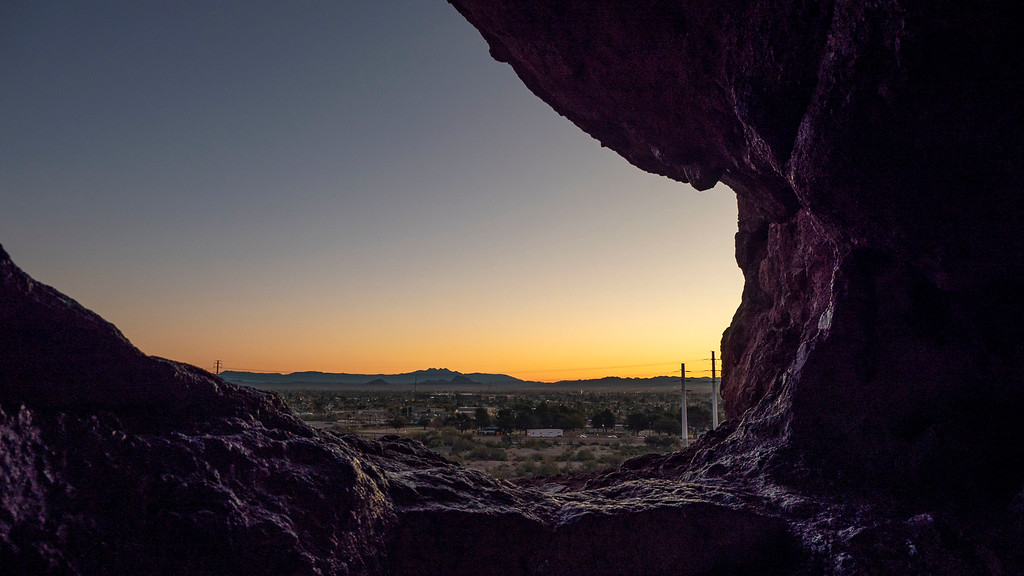 Things to do in Tempe AZ: Sunrise at Hole in the Rock
