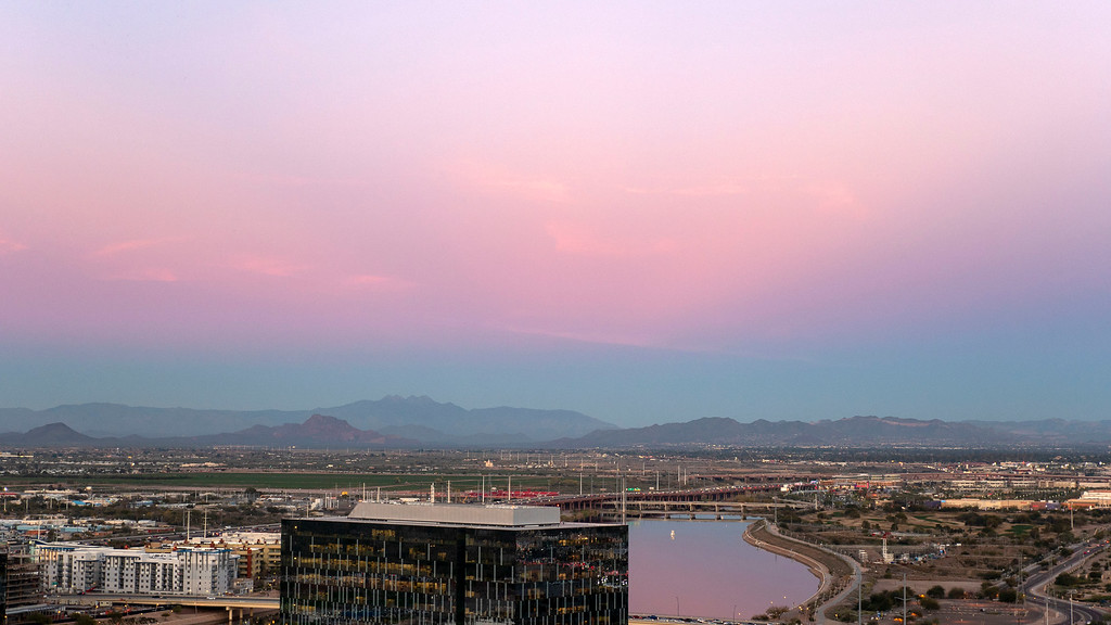 Things to do in Tempe AZ: Sunset from Hayden Butte / A Mountain