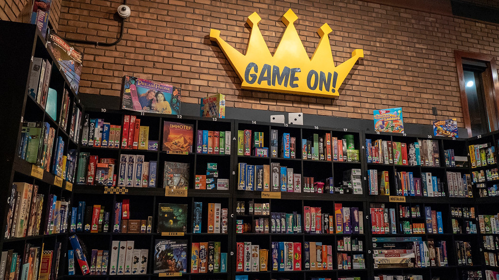 Things to do in Tempe AZ: Snakes & Lattes board games shelf