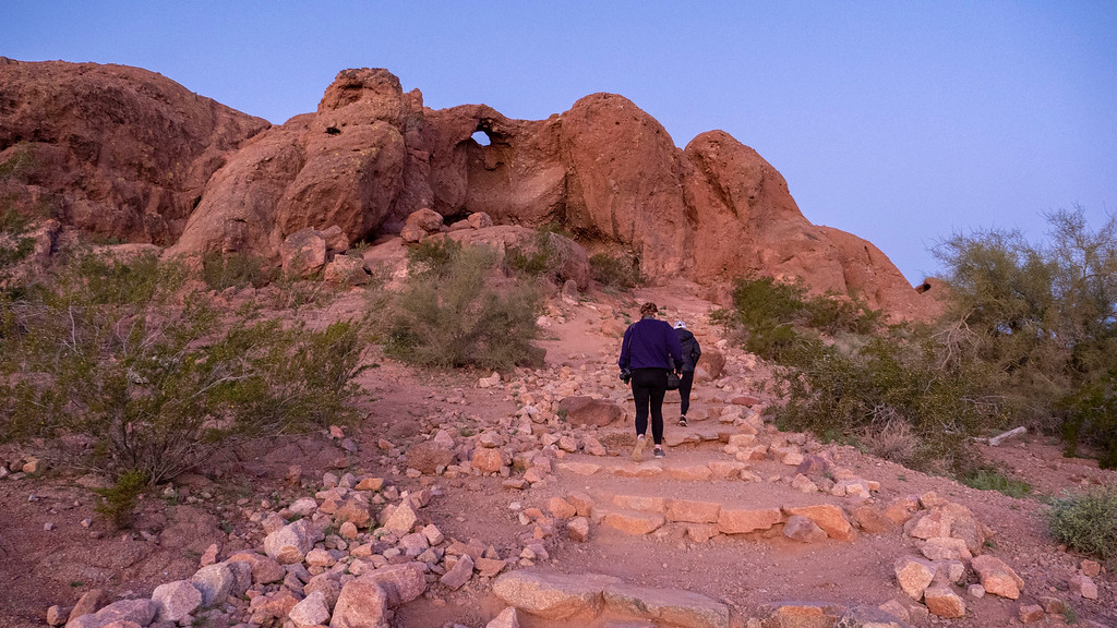 Things to do in Tempe AZ: Hole in the Rock Sunrise Hiking