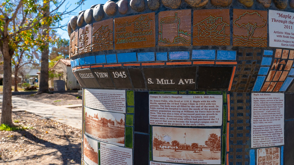 Things to do in Tempe AZ: Standpipes with history of Tempe