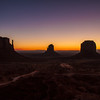 Pre-dawn in Monument Valley.