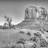 One of the famous buttes in Monument Valley.