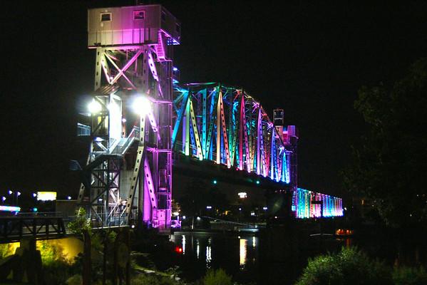 Arkansas RIver Bridge from River Market