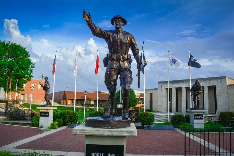 veterans war memorials in pocahontas