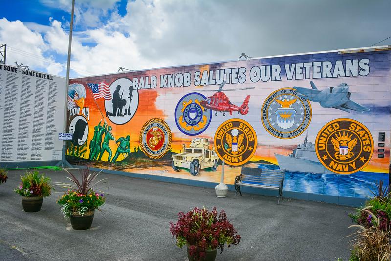 veterans mural in bald knob
