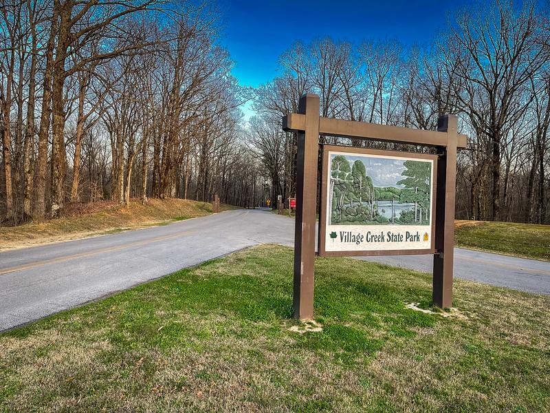 village creek state park entrance