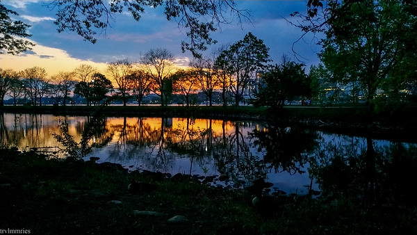 Sunset in the Charles