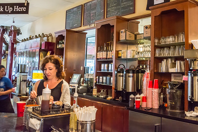 Coffee bar at Cafe Roma - San Francisco, CA
