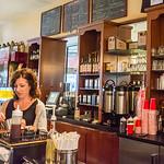Coffee bar at Cafe Roma - San Francisco, CA
