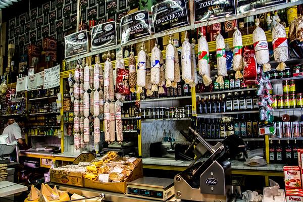 Inside Molinari Delicatessen
