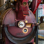 Coffee roaster at Cafe Roma - San Francisco, CA