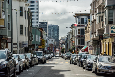 Looking towards Chinatown - San Francisco, CA