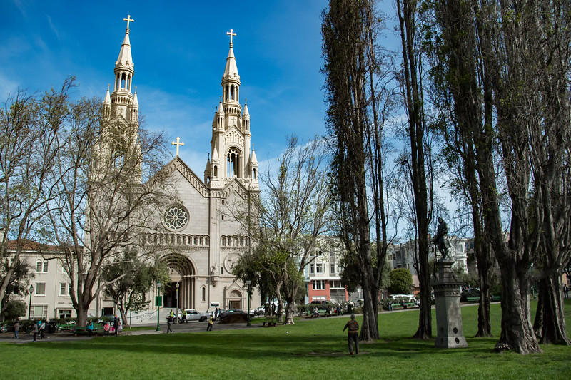 Saints Peter adn Paul Cathedral in Washington Square San Francisco California