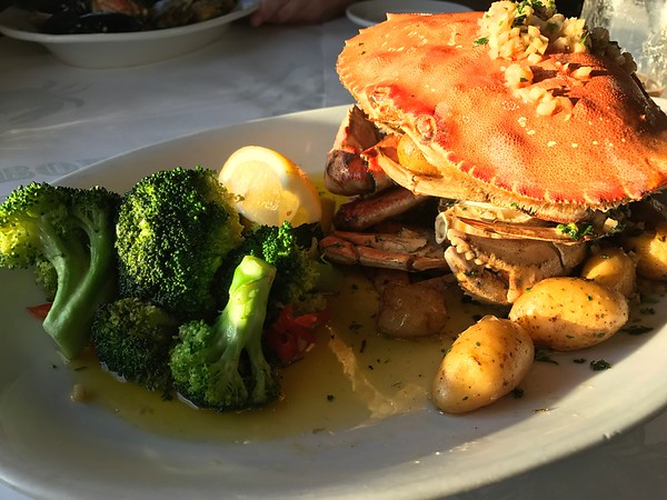 Garlic Roasted Dungeness Crab from Fog Harbor Fish House on Pier 39