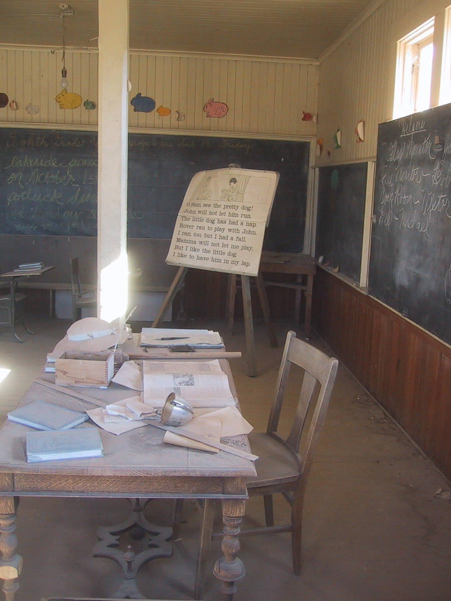 Ghost Town School Room - Bodie, California -  Photo