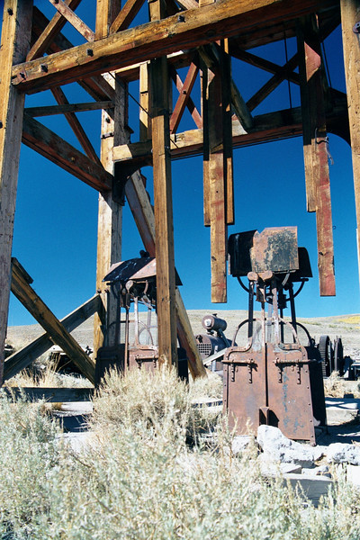Mining Equipment - Ghost Town of Bodie - California State Park