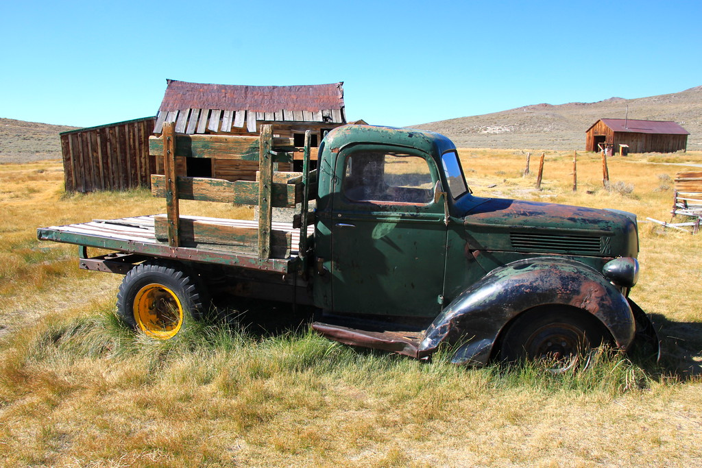 Old Green Truck - Bodie, California - Photo