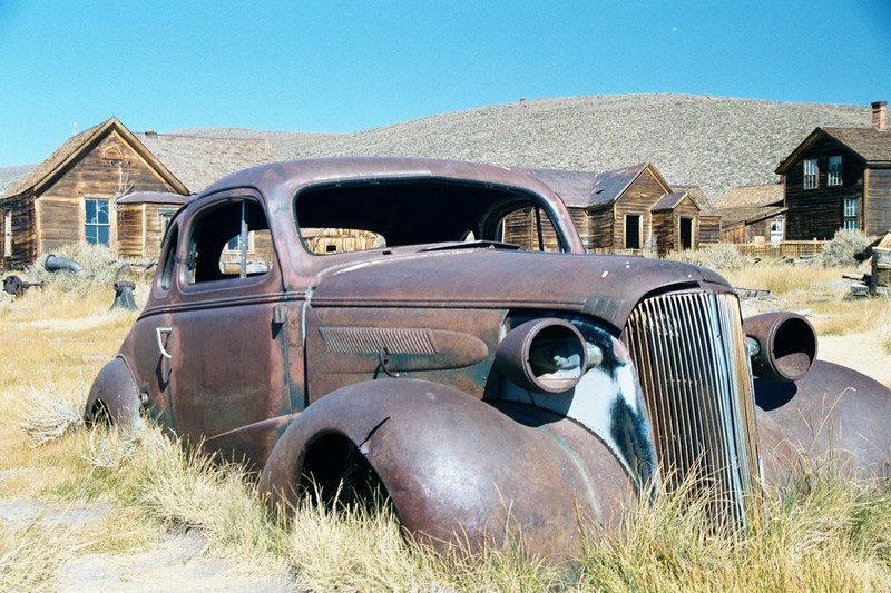 Rusted Car - Ghost Town of Bodie - California State Park