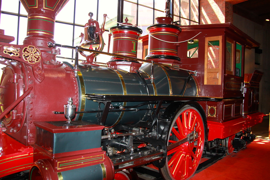 C. P. Huntington, Locomotive no 1 - Sacramento, California - Photo