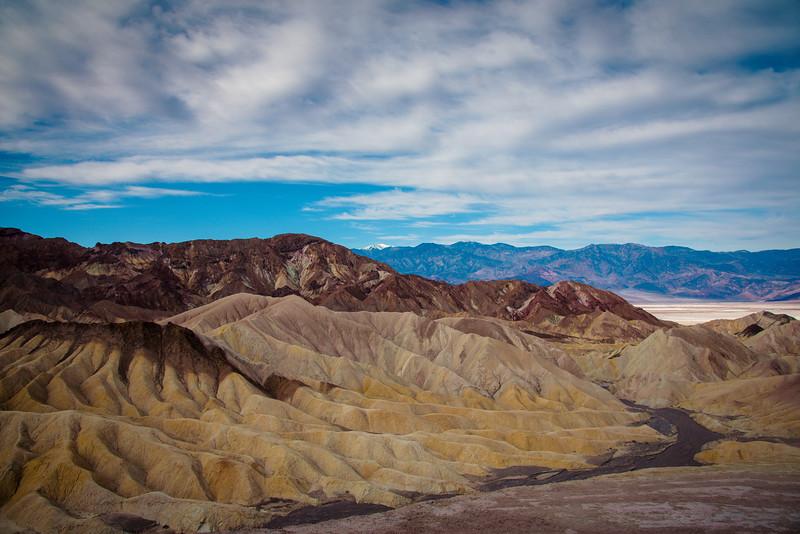 death valley zabriskie point overlook