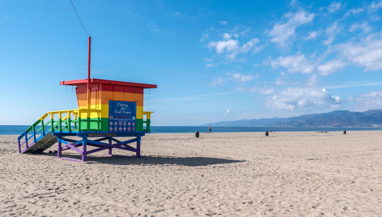Venice Pride Lifeguard Stand