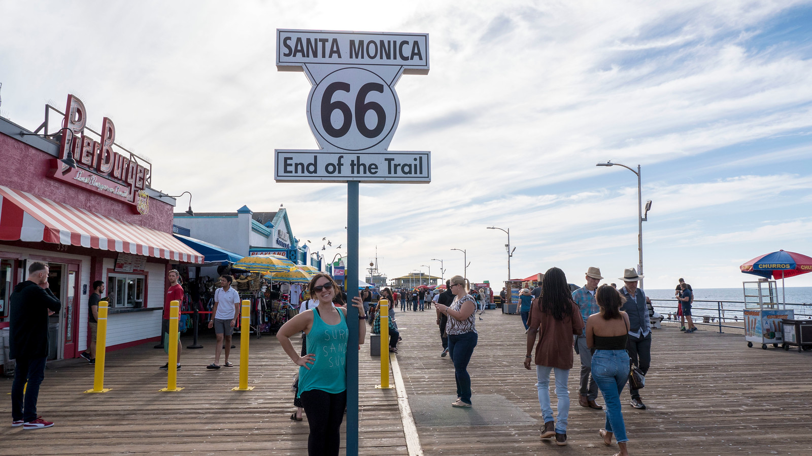 End of Route 66 at Santa Monica Pier - 2 Days in Los Angeles Itinerary for First Timers