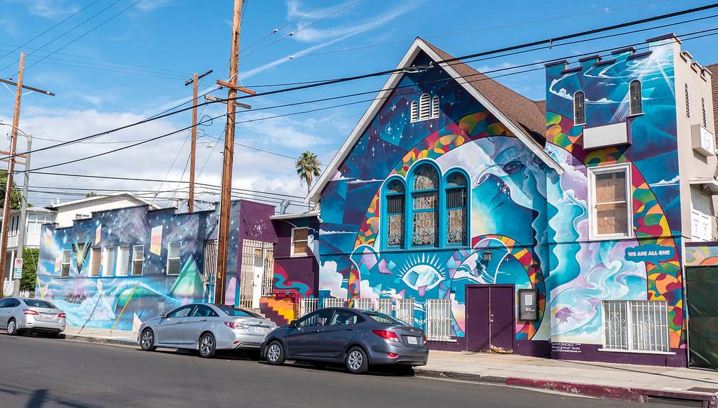 Street art in Los Angeles in Venice Beach