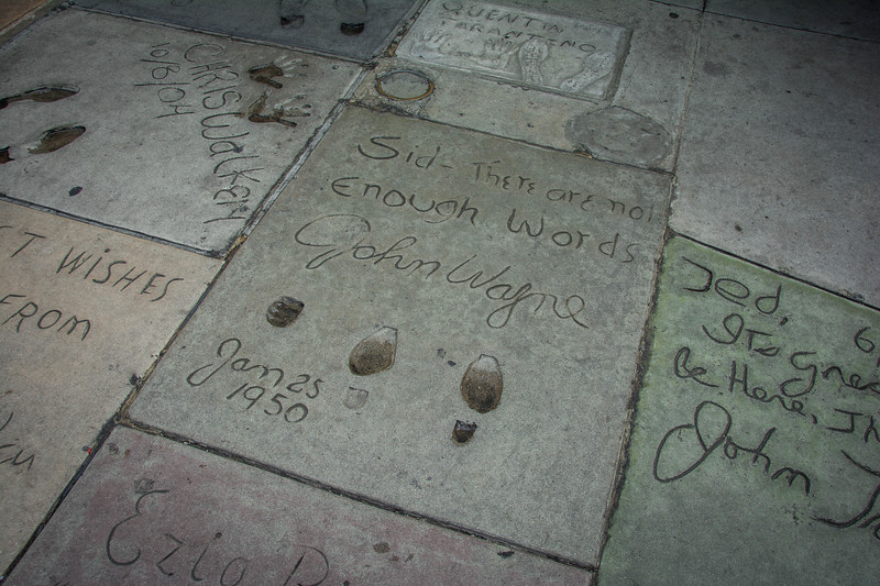 hand and footprints at chinese theatre