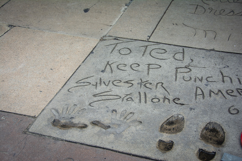 sylvester stallone chinese theatre hollywood