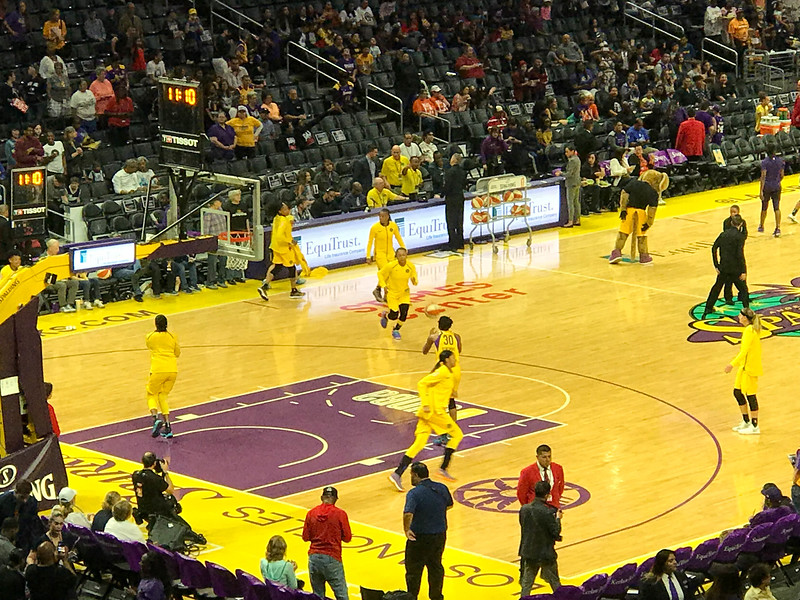 la sparks staples center
